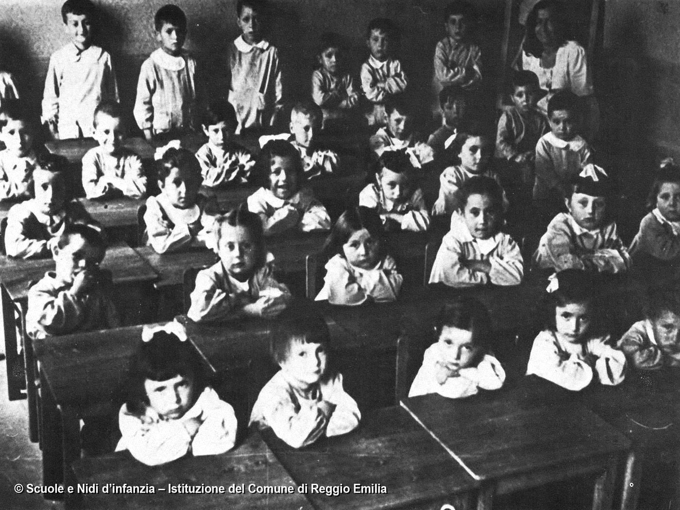 Aula di asilo primi Novecento