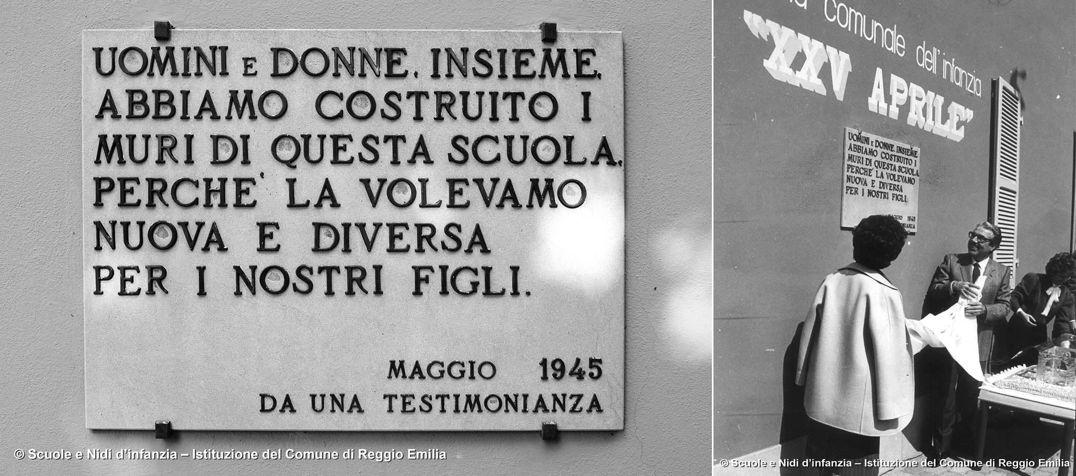 IL SINDACO DI REGGIO EMILIA UGO BENASSI, INSIEME A LORETTA GIARONI ASSESSORE ALLA SCUOLA DAL 1967 AL 1975, INAUGURA LA SCUOLA COMUNALE DELL'INFANZIA XXV APRILE DOPO I LAVORI DI AMPLIAMENTO ARCHIVIO SCUOLE E NIDI D'INFANZIA – ISTITUZIONE DEL COMUNE DI REGGIO EMILIA, 20 APRILE 1985