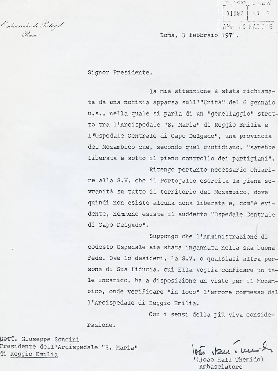 corrispondenza reggio portogallo 3 febbraio