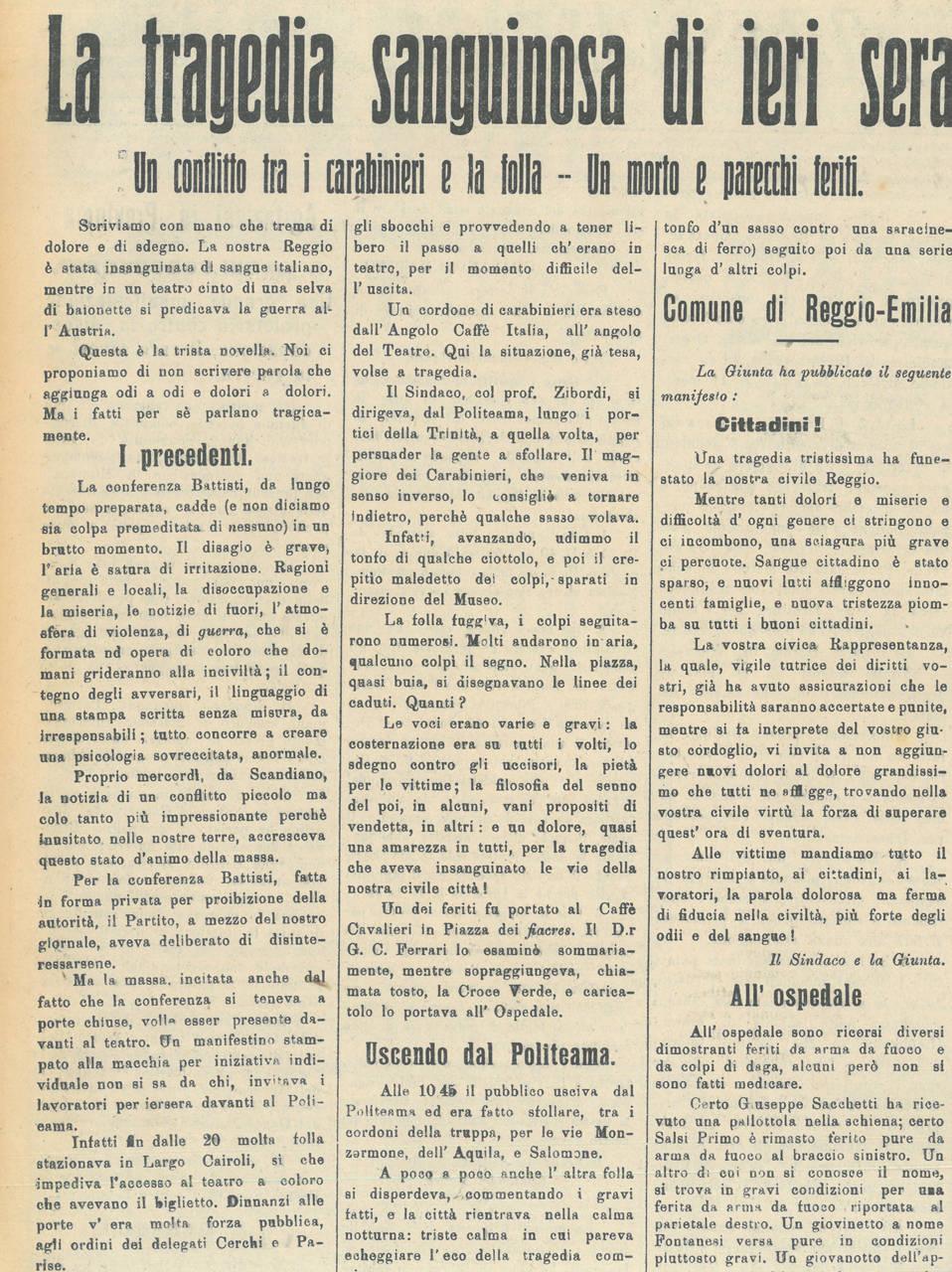 giornale di reggio 25 febbraio 1915