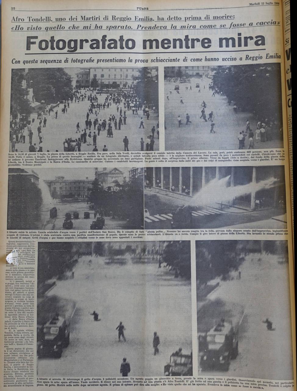 l unita 12 luglio 1960