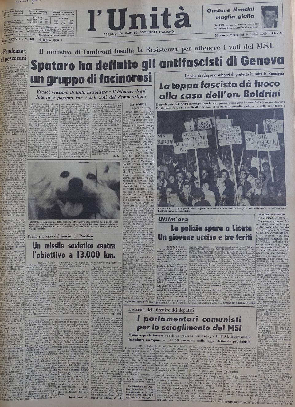 l unita 6 luglio 1960