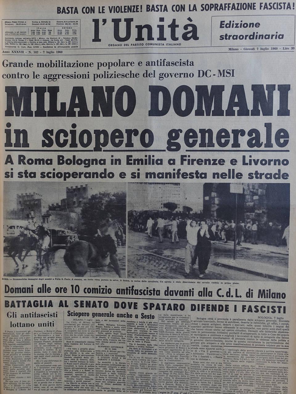 l unita 7 luglio 1960
