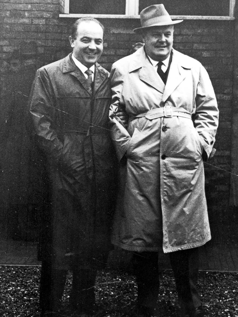Gino Lari insieme a Giannetto Cimurri Fototeca Biblioteca Panizzi, Reggio Emilia 1963