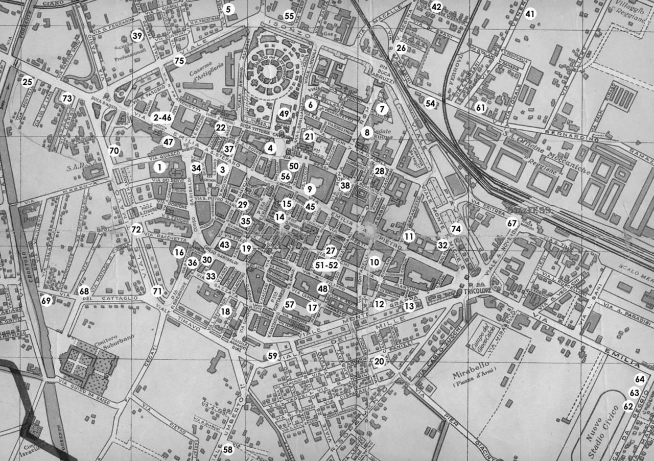 mappa ricoveri pubblici reggio