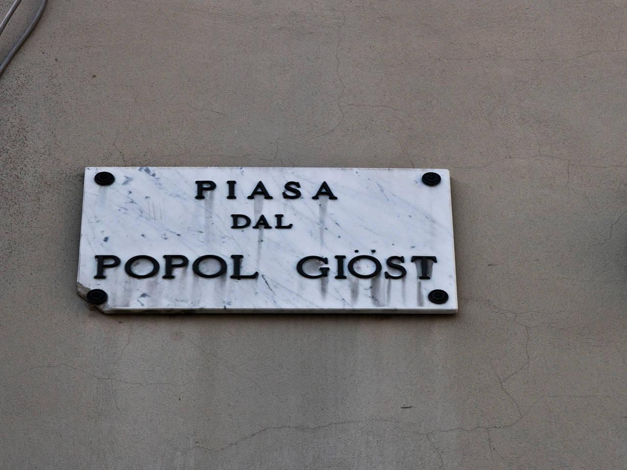 Piasa dal Popol Giost - Piazza del Popolo Giusto a Reggio Emilia