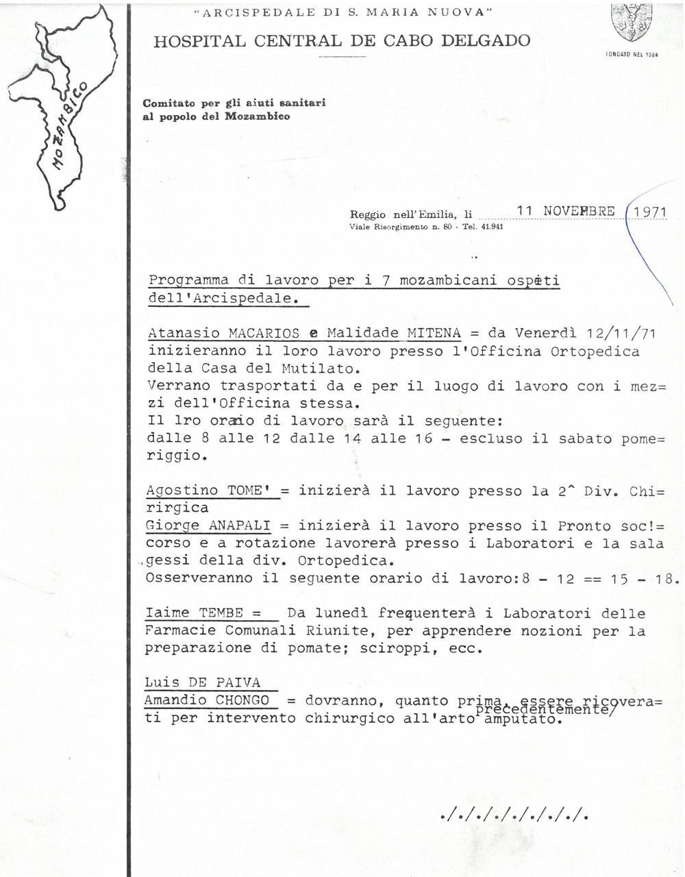 programma lavoro mozambicani