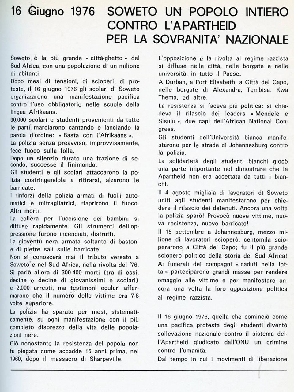 sechaba giugno 78