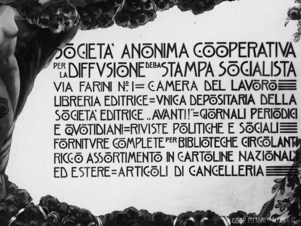 manifesto per la diffusione della stampa socialista, società anonima cooperativa 1916