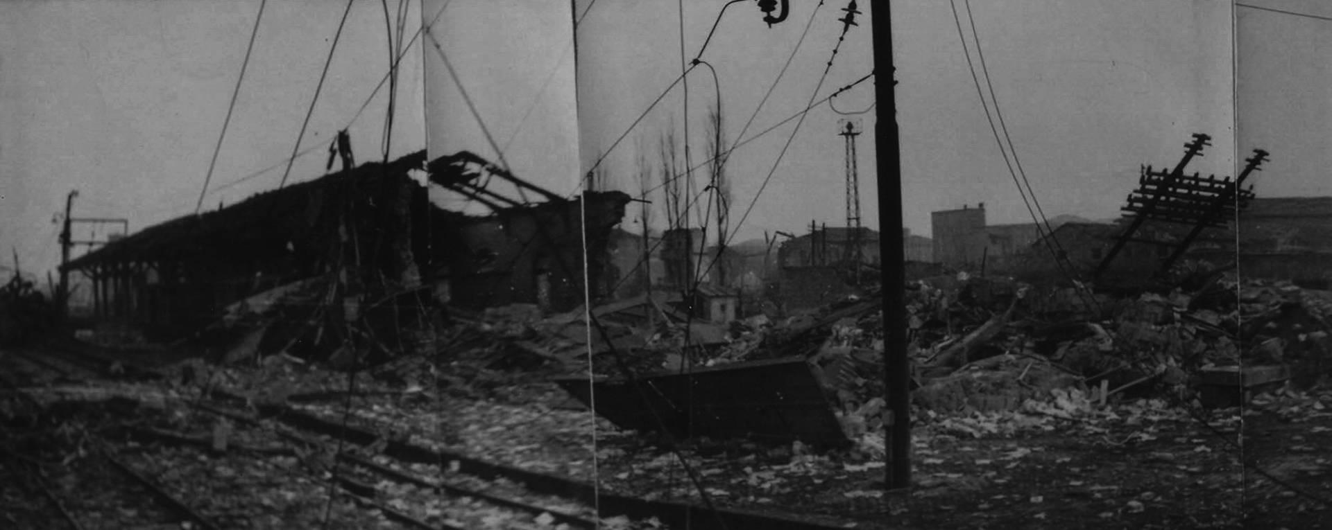 stazione dopo bombardamento