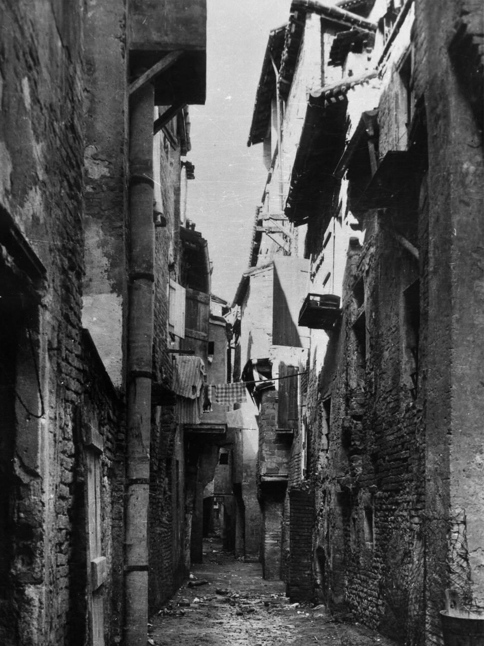 TRAVERSA BORGO EMILIO VIA FRANCOTETTO FOTOTECA BIBLIOTECA PANIZZI, FONDO IVANO BURANI - REGGIO EMILIA 1920 CA.
