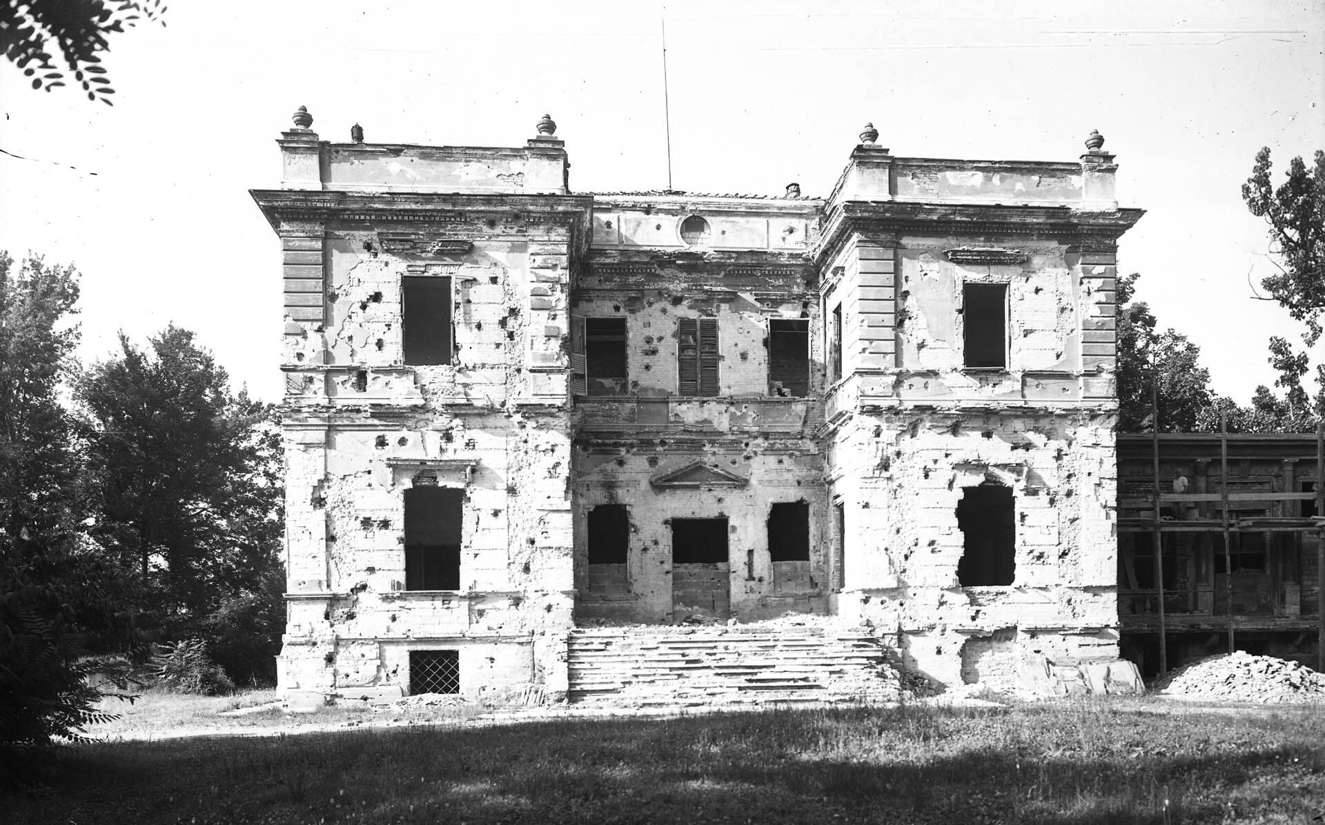 villa terrachini bombardata